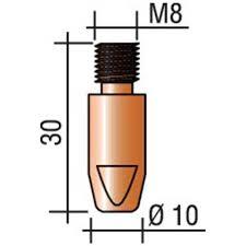 Punta guidafilo M8x30 CuCrZr Ø 0,8-1,4 compatibile torce BinZel (10pz)
